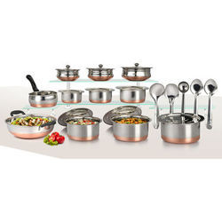 Stainless Steel 20pcs Copper Bottom Cookware Set  5 Ladle