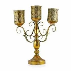 3 Arm Golden Candle Stick
