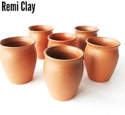 Golden Brown Clay Kulhad, For Drinking And Serving
