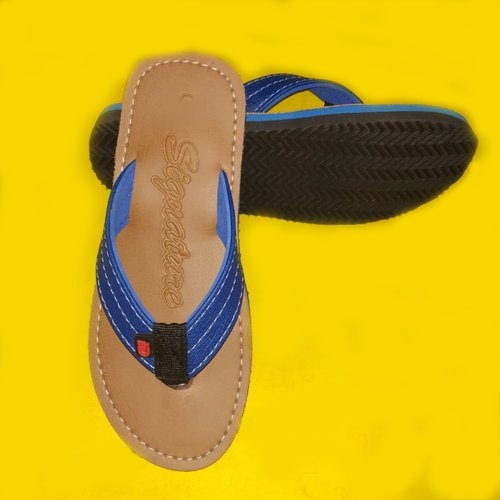476e17aca Signature Synthetic Leather Mens Plain Designer Slipper