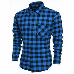 Medium And Large Cotton Men's Check Shirt
