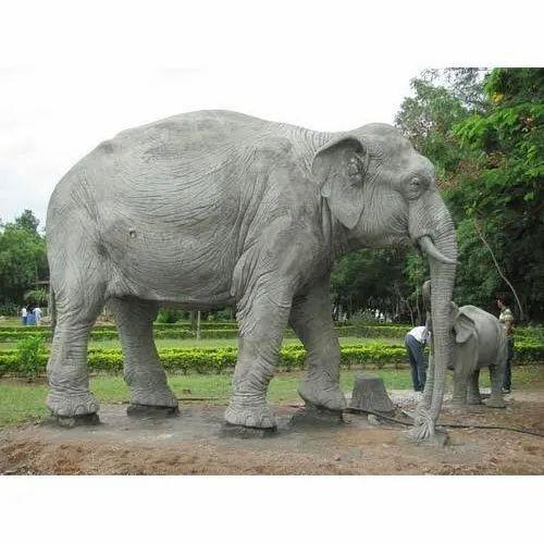 Cement Elephant Statue