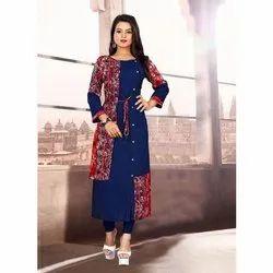 Casual Wear Regular Ladies Cotton Designer Kurtis, Size: M-XXL, Wash Care: Handwash