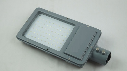 Pure White Aluminum 50W LED Street Light