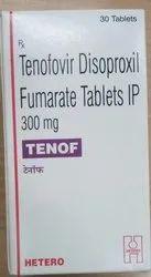 Tenof Tablet, Tenofovir Disoproxil Fumarate (300mg)