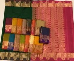 Zari Party Wear Blended Silk Sarees 6.3 m (With Blouse Piece)