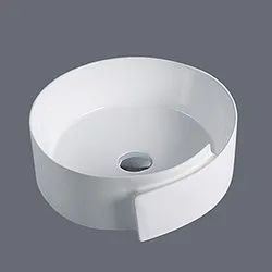 Ceramic White HM-A613 Table Top Basin, For Bathroom, Size: 440x440x160mm