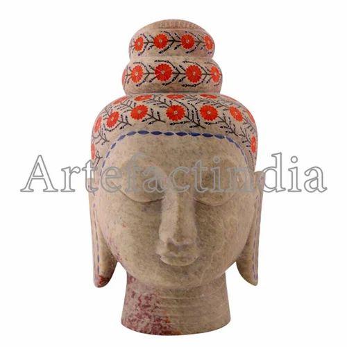 Marble Inlay Buddha Head Art Work