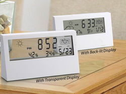 White ABS Digital Multi Functional Table Clock