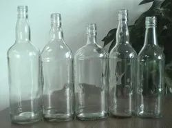 GMO Clear Flint Liquor Glass Bottle, Capacity: 90ml-1000ml