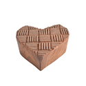 Heart Shape Wooden Henna Printing