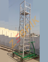 Aluminum Tiltable Tower Movable Ladder