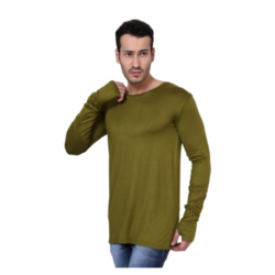 Men's Full Sleeves Thumb Hole Cotton T Shirt