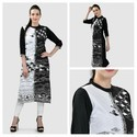 Cotton/linen 3/4th Sleeve Ladies Stylish Printed Kurti