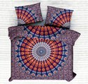 Cotton Ombre Mandala Printed Double Bed Sheet