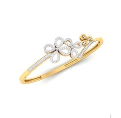 Fancy Floral Real Round Diamond Bracelet For Women Solid 14kt Yellow White Rose Gold Fine Jewelry