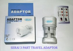 Serai Universal World Travel Adaptor 3 Part
