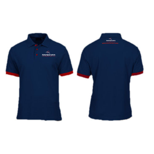 e4bbbe2f Blue Corporate T Shirt, Size: M, L, XL, Rs 149 /piece, Print Safari ...