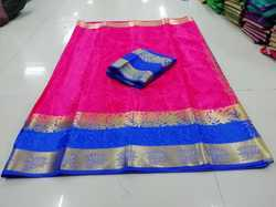 JAQUARD POLY SILK SAREE