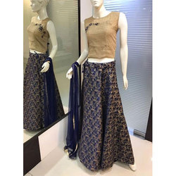 Ladies Printed and Embroidered Designer Lehenga
