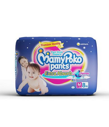 105Mamy Poko Pant Style Medium (7 To 12 Kg) Diapers - 8pc