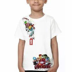 Half Sleeves Casual Wear Kids Regular Fit Printed T Shirts