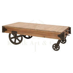 Wood Trolley Table
