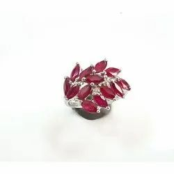 Party Wear Ruby Sapphire Ring