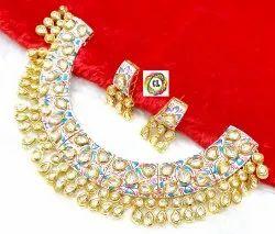 Cl Jewellery Handpainted Kundan Meenakari Customised Dhulhan Jewellery Necklace Set