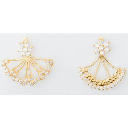 Yellow Gold Foldable Earring