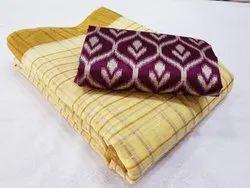Party wear Checks Pure Linen Saree