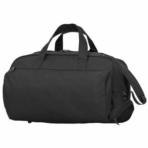 e8fbc4a49154 Black Plain Duffle Bag