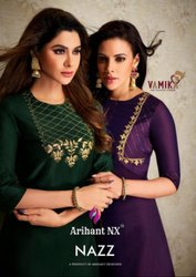 Textile Mall Presents Arihant Nx Vamika Nazz Kurti With Bottom Catalog Collection