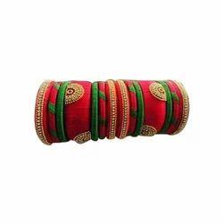Dual Colour Silk Thread Bangles
