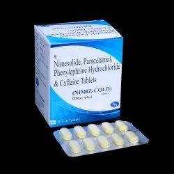 Nimesulide 100mg PCM 325mg Phenylephrine 10mg & Caffeine 25mg Tablets