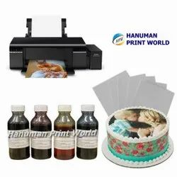 WIFI Epson Photo Cake Tank Printer Complete Set Including 4 Edible Ink Bottles & 25 Icing Sheets