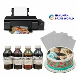WIFI Epson Edible Tank Printer Complete Set Including 4 Edible Ink Bottles & 25 Icing Sheets