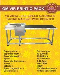 YG 2002A- High - Speed Automatic Paging Machine With Counter