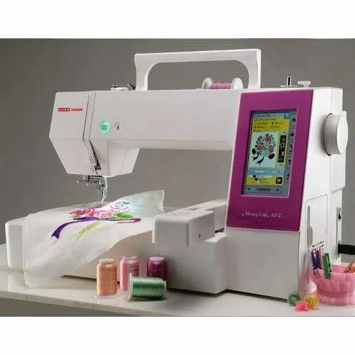 Usha Janome Memory Craft 450e Embroidery Machine At Rs 99000 Piece Usha Janome Sewing Machine Id 22144841588