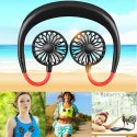 Rechargeable Neckband Lazy Neck Hanging Style Dual Cooling Fan for Outdoor Traveling -Neck fan