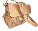 Front Pocket  Vintage Leather Shoulder Bag