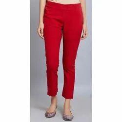 Ladies Cotton Pencil Pants