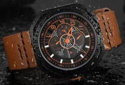 Round Nf9141L Naviforce Leather Sports Watch, For Formal