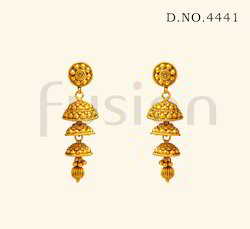 Traditional Antique Double Jhumka Earrings