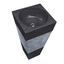 Black And Grey Stone Wash Basin