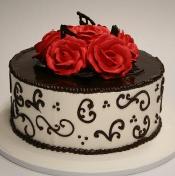 Groovy Chocolate Rose Cake At Rs 1258 Piece L Birthday Cards Printable Trancafe Filternl