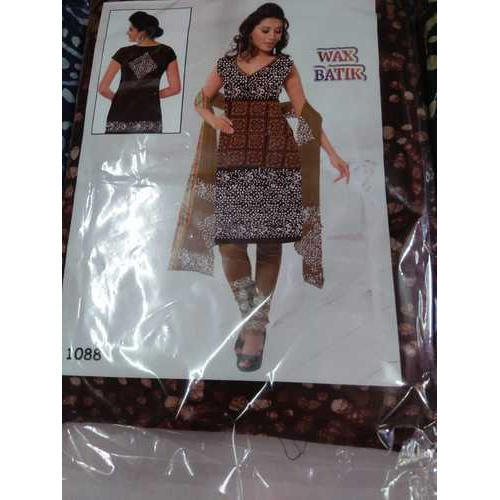Ladies Cotton Batik Printed Unstitched Salwar Suits