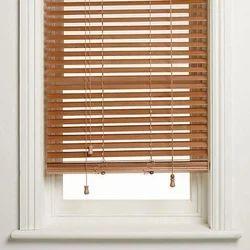Brown Wooden Venetian Blind