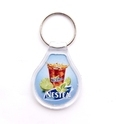 Plastic Crystal Key Chain 28, Size: 59 X 43 Mm