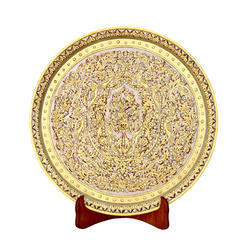 Antique Marble Round Plate For Decoration